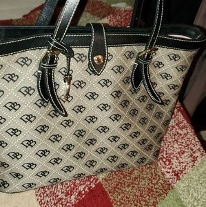 Black Monogrammed Dooney & Bourke